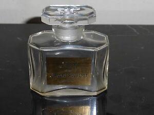"""Vintage Joy De Jean Patou Empty Bottle with Glass Stopper 2.5"""" High"""