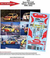DECALS 1/24 REF 412 CITROEN SAXO S1600 SOLA RALLYE MONTE CARLO 2002 RALLY WRC