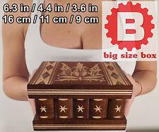 DRACULA Handmade Wooden Jewellery Boxes with Secret Lock, Big Smart Box, IQ test