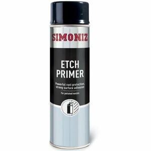 Simoniz Etch Primer Spray Aerosol Can Car Motorcycle Silver - 500ml UK SELLER