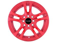 14x6 Kudo Racing Rapid 4x100 4x114.3 +35mm Red Wheels Rims New Set(4)