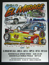El Mirage Dry Lake Bed 2010 Poster SCTA Ford Mopar Chevrolet GMC Bonneville Salt