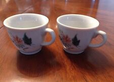 White with Floral Print Espresso Cups - Set of 2
