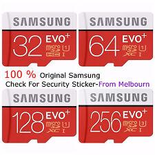 Samsung 16GB 32GB 64GB 128GB 256GB micro SD SDHC SDXC Evo Plus Memory Card