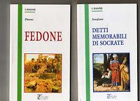 senofonte - platone - 2 libri   8 euro- la spiga -edizioni integrali