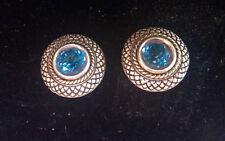 Stephen Dweck Blue Topaz, 18K and Sterling Silver Pierced Earrings