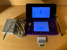 Nintendo 3DS Midnight Purple Homebrew Luma Modded 64GB SD Card Genuine Charger