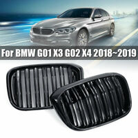 Glossy Black Front Bumper Grille Mesh Grill For BMW G01 X3 G02 X4 2018~2019