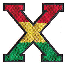 Ecusson patche Malcolm X Africa Rasta patch brodé thermocollant