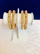 Indian Bangles Diamontee Stone Brown Colour Bollywood Wedding Style Gold Plated