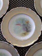 Set Of 5 Mintons Fish Plates..Albert H Wright..Davis Collamore,NY