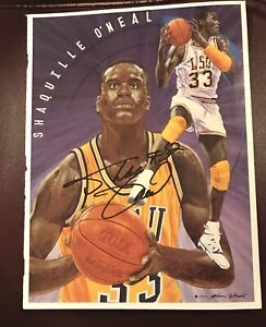 1991 Shaquille O'Neal Autographed magazine page.