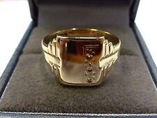 Vintage 9ct Gold Gent's Signet Ring Size U 1/2, 1965-66   5.4 grams