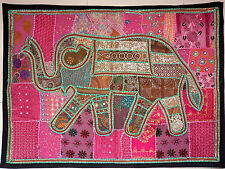Tribal Ethnic Vintage Elephant Wall Hanging Cotton Hand Embroidery Patchwork E91