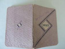 Agenda Calendrier de poche 1933 Sirop de Deschiens Pharmacie Médecine