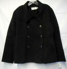 Woman's BLOOMINGDALES Soft Black Pea Coat Size 20 New w/ Tags but abit damaged