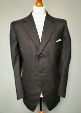 Vintage 1930's 1960's Bespoke single breasted grey suit size 42 long