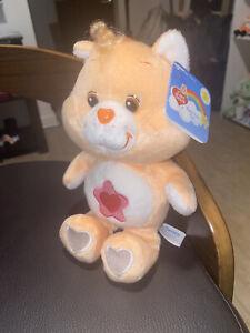 "NWT Care Bears 8"" Proud Heart Cat Care Bear Cousin 20th Anniversary Beanie/Plush"
