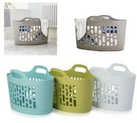 50L Plastic Flexible Storage Baskets Flexi Tub Clothing Laundry Bucket Garden