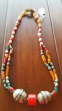 ANTIQUE ETHIOPIAN ETHIOPIA AFRICAN TRIBAL TRADE BEAD NECKLACE HARER Estate Sale