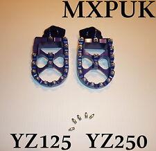 YZ125 2002 PEDANE IN BLU mxpuk WIDE PIEDI PEDANE 2001 YZ250 YZ125 (565)
