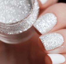 10ml Nail Art Glitter Powder Dust Tips White Silver Rose Mixed Size Decors DIY