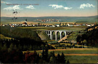 1913 Feldpostkarte Frankenberg Sachsen Lützeltal Viaduct Viadukt Brücke Bridge