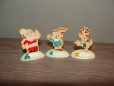 1991 Hallmark Christmas Cookie Cutter Merry Miniatures (3), Santa, Elf, Reindeer