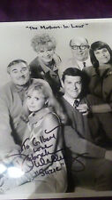 """Autographed cast photo of '60's T.V. show, """"The Mothers-in-Law"""""""