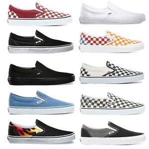 Vans Classic Slip On Herren-Schuhe Slipper Sneaker Halbschuhe Skateschuhe Slipon