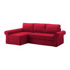 NUOVO Set di copertura IKEA backabro PER DIVANO-Letto con chaise longue in NORDVALLA Rosso