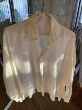 Eskandar White Linen Shirt Size 1