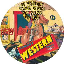 COWBOY WESTERN VINTAGE COMIC BOOKS - 39 ISSUES - PDF FILES ON DVD - WILD WEST
