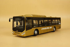 1/42 China Dongfeng Chaolong BEV bus diecast model GOLD color