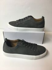 NEW MADDEN Juror Gray Suede Lace Up Perforated Sneakers Shoes Men's Size 8 M