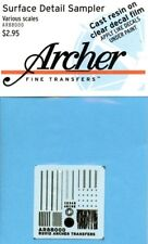 Archer 1:35 1:48 1:72 Various Scale Surface Detail Sampler Dry Transfer #AR88000