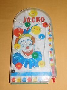VINTAGE TOY CLOWN BALLOONS WOLVERINE PINBALL GAME JOCKO