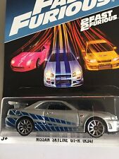 HotWheels Nissan Skyline GT-R Fast And Furious 2017 US Brian's Paul Walkers Car