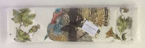 """Pottery Barn Heritage Turkey Table Runner ~ Holidays ~ 18x108"""" ~ New with Tags"""