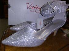 "Vostey Milan Women Shoes Heels Silver Spike Heel 3 "" Size 11"