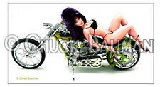 Fridge Magnet Elvira Bike Bitch Babe girl bikini chopper pin-up girl Harley