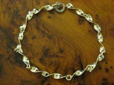 835 Silver Bracelet/Turned Links / Real Silver/3,4g/18,5 CM