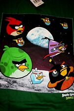 XL 18  BOYS  ANGRY BIRDS  GREEN  GROUP     T SHIRT   NEW  $18