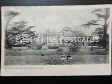 London EALING Walpole Park & Free Library c1902 UB Early Postcard