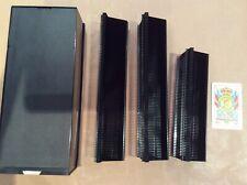 LEICA Slide projector cassette trays 2x50 1x60 spring slides + storage box.