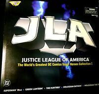 JLA Superheros Set 1 Boxed 5 Figure Collection Set DC Comics New 1998