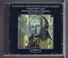 JF REICHARDT CD NEW LIEDER - DIETRICH FISCHER DIESKAU - MARIA GRAF