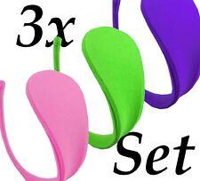 3er Set Damen Slip C-String CString Tanga Mini Bikini Dessous Gogo S/M/L