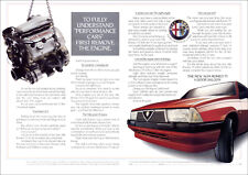 ALFA ROMEO ALFA 75 V6 RETRO A3 POSTER PRINT FROM CLASSIC 80'S ADVERT