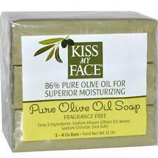Kiss My Face Pure Olive Oil Bar Soap, 4 oz bars, 3 ea